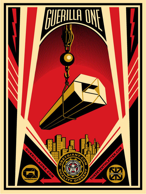SHEPARD FAIREY x GUERILLAONE x THE SEVENTH LETTER