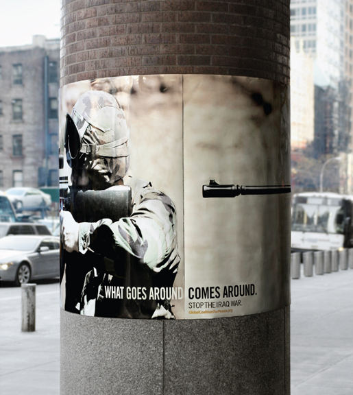what goes around rifle poster