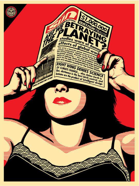 Shepard Fairey // Global Warming Print